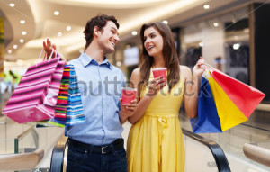 shopping date at the mall
